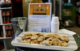 Several local businesses compete for the honor of service Huntington's Best Chocolate Chip Cookie, all to raise money for United Way of the River Cities.